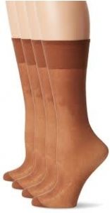 Just My Size Women's Outside Knee Panty Hose, Beige, One Size- 4ct ** Extended Lead Time **