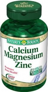 Nature's Bounty Calcium Magnesium Zinc Caplets - 100ct