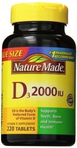Nature Made D3 2000 IU Tablets 220ct