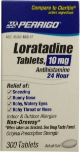 Loratadine 10mg (Generic Claritin) - 300 Tablet Bottle