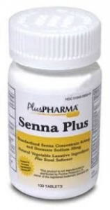 Senna Natural Vegetable Laxative, 8.6mg, 1000 Tablets