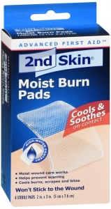 2nd Skin  Moist Burn Pads Spenco 2 Inches X 3 Inches 4