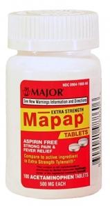Mapap Acetaminophen 500mg Tablet 100ct