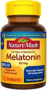 Nature Made Melatonin Extra Strength 10mg Tablets - 70ct
