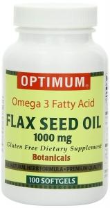 Optimum Flax Seed Oil Softgels, 1000 Mg, 100 ct