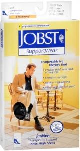 JOBST Men's Socks, 8-15mmHG Compression, Black, Medium - 1 Pair
