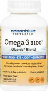 Ocean Blue Omega 2100 Nutritional Supplement, 120 Count, Orange Flavor