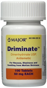 Driminate 50mg Tablets - 100ct(Generic for Dramamine Motion Sickness)