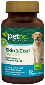Pet Natural Care Skin and Coat Health Softgels For Dogs- 60ct