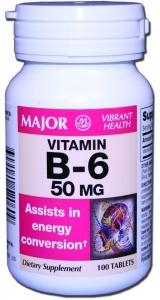 Vitamin B-6 50mg Tablets 100ct
