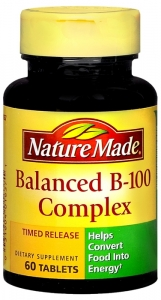 Nature Made Balanced B-100 Complex Timed Release 60 Tablets