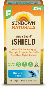 Sundown Naturals Vision Guard iShield Softgels, 60ct