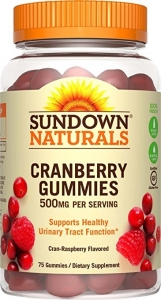 Sundown Naturals Cranberry Dietary Supplement Gluten-Free Gummies, 500mg, 75ct