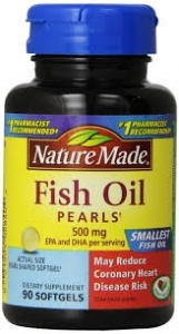 Nature-Made Fish Oil Pearls 500mg- 90ct
