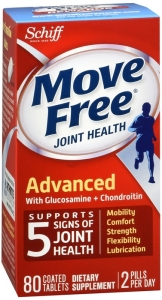 Schiff Move Free Joint Health Advanced with Glucosamine Chondroitin, Coated Tablets- 80ct