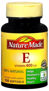 Nature Made Vitamin E 400 I.U. Softgels Natural 100ct