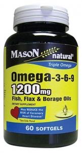 Mason Omega-3-6-9 Softgels, 1200mg, 60ct