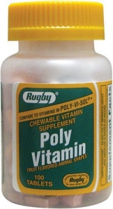 Poly Vitamin Chewable Tablets - 100ct Bottle