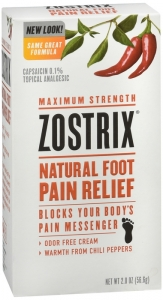 Zostrix High Potency Foot Pain Relief Cream - 2oz Tube