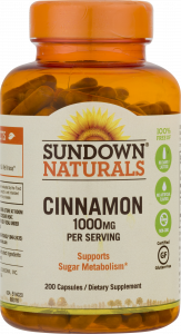 Sundown Naturals Dietary Supplement Cinnamon 1000mg - 200 Capsules