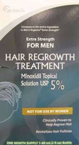 Actavis Men's Extra Strength Minoxidil 5%  Hair Regrowth Treatment - 2 fl oz (one month supply)