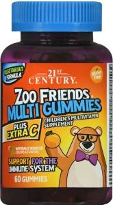 21st Century Zoo Friends Multi Gummies Plus Extra C 60 ct