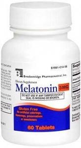 Breckenridge Melatonin Tablets, 3 mg, 60 Ct