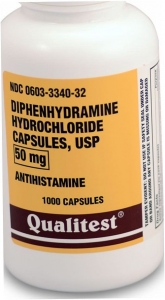 Diphenhydramine HCL (50mg) - 1000 Capsules