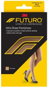 Futuro Energizing Ultra Sheer Pantyhose For Women Mild Medium Nude - 1 Pair