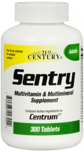 21st Century Sentry Multi Vitamin And Mineral Tablets - 300 ct