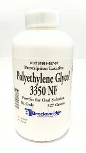 Polyethylene Glycol 3350 (PEG-3350) Powder - 527g Bottle
