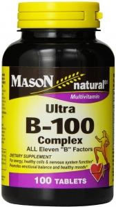 Mason Natural Ultra B-100 Complex 100 Tablets