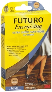 Futuro Energizing Ultra Sheer Pantyhose For Women Mild Plus Nude - 1 Pair