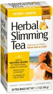 21st Century Herbal Slimming Tea, Honey Lemon, 24 tea bags