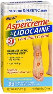 Aspercreme 4 Lidocaine Diabetic Foot Pain Creme 4 Oz