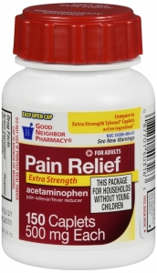 Good Neighbor Pharmacy Acetaminophen Extra Strength Easy Open 500mg Caplets-150ct