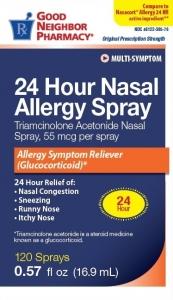 GNP 24 Hour Nasal Allergy Triamcinolone acetonide 55 mcg 120 Sprays/0.57 oz