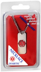 Apothecary Diabetic I.D. Necklace-Stainless