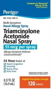 Perrigo Triamcinolone acetonide 55mcg 24HR 120 Sprays/0.57oz