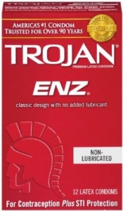 Trojan Enz Non-Lubricated Condoms- 12ct