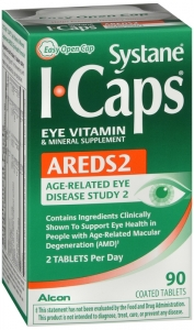 Systane Icaps Eye Vitamin Areds, 90 Coated Tablets