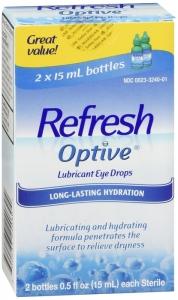 Refresh Optive Lubricant Eye Drops 2 x 15 mL Bottles