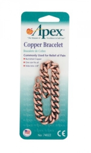 Apex Copper Bracelet, Wide Band- 1ct