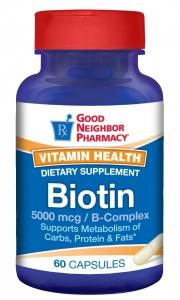 Good Neighbor Pharmacy Biotin 5000mcg 60 Capsules