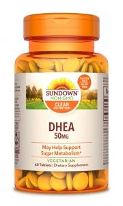 Sundown Naturals DHEA 50 mg Tablets, 60ct