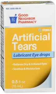 GNP Artificial Tears Lubricant Eye Drops - 0.5 fl oz