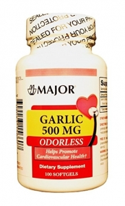 Major Garlic 500mg Capsules 100ct