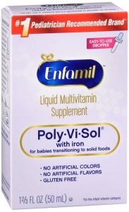 Poly-Vi-Sol With Iron Multivitamin Supplement Drops 50ml