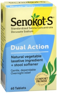 Senokot-S Natural Laxative and Stool Softener - 60 Tablets