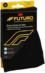 Futuro Restoring Dress Socks for Men, Black, Extra Large, Firm- 1 Pair